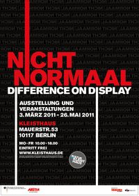 NICHT NORMAAL * Difference on Display