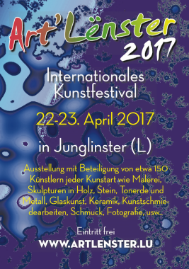 ARTLENSTER 2017 – Fünfte Auflage am 22./23. April in Junglinster